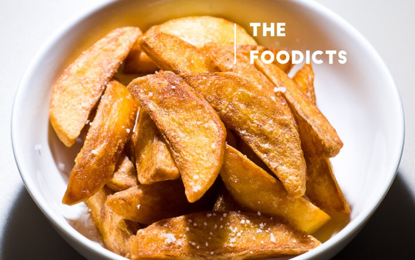 i am british, i am proper: i am triple fried chips! By The Foodicts
